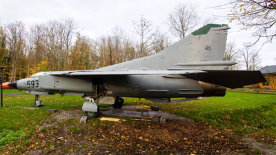 593 - Mikoyan-Gurevich MiG-23MF Flogger B - German Democratic Republic - Air Force