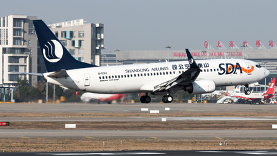 A picture of B5351 - Boeing 73785N - Shandong Airlines - © Lazy Clutch