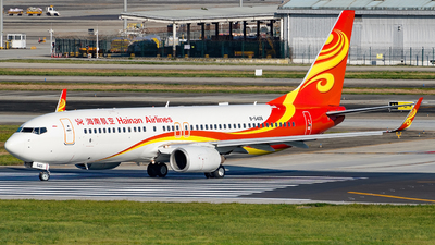 A picture of B5406 - Boeing 73784P - Hainan Airlines - © Miaomiao