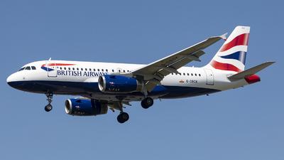 G-DBCK - Airbus A319-131 - British Airways