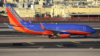 A picture of N7743B - Boeing 7377BD - Southwest Airlines - © DJ Reed - OPShots Photo Team