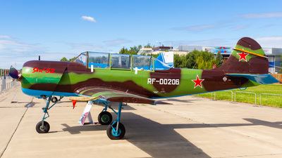 RF-00206 - Yakovlev Yak-52 - Russia - Defence Sports-Technical Organisation (ROSTO)