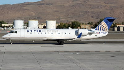 A picture of N492SW - Mitsubishi CRJ200LR - United Airlines - © Nate Morin