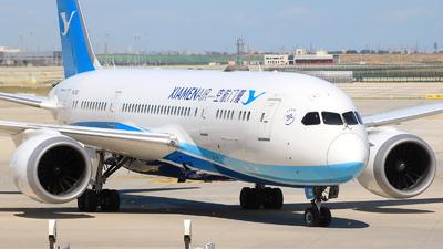A picture of B2762 - Boeing 7878 Dreamliner - Xiamen Air - © Jinyuan LIU