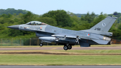 J-511 - General Dynamics F-16AM Fighting Falcon - Netherlands - Royal Air Force
