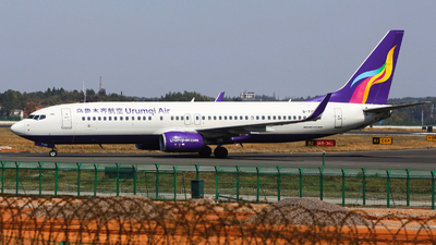 A picture of B7198 - Boeing 73784P - Urumqi Airlines - © nibrage