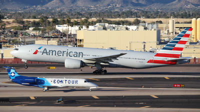 A picture of N755AN - Boeing 777223(ER) - American Airlines - © XueQing