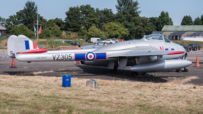LN-DHY - De Havilland Vampire FB.6 - Private