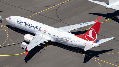 A picture of TCLCP - Boeing 737 MAX 8 - Turkish Airlines - © xuxinyi1000