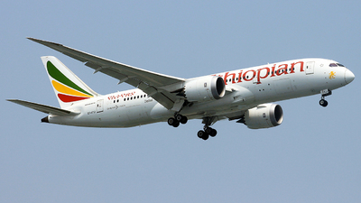 A picture of ETATJ - Boeing 7878 Dreamliner - Ethiopian Airlines - © Rekodara