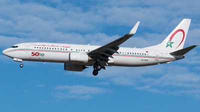 A picture of CNRGN - Boeing 7378B6 - Royal Air Maroc - © De Guidi Oscar
