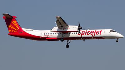 A picture of VTSQB - De Havilland Canada Dash 8400 - SpiceJet - © Aashay Bapaye