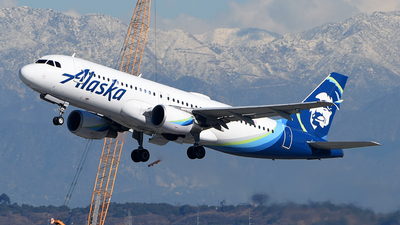 A picture of N844VA - Airbus A320214 - Alaska Airlines - © Rocky Wang