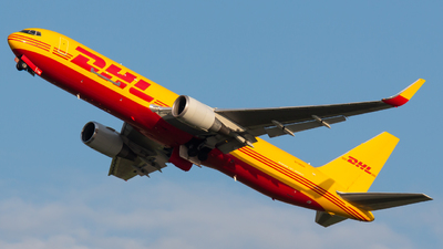 A picture of N739DH - Boeing 767324(ER)(BCF) - DHL - © Donald  E Moore
