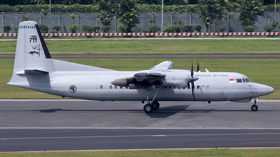 711 - Fokker 50 - Singapore - Air Force