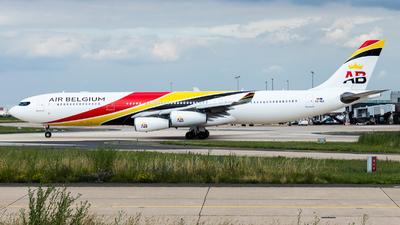 A picture of OOABA - Airbus A340313 - Air Belgium - © William Verguet
