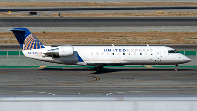 A picture of N876AS - Mitsubishi CRJ200ER - United Airlines - © Jet92