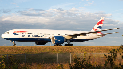 A picture of GVIIO - Boeing 777236(ER) - British Airways - © Erik Goodfellow