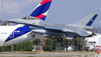 729 - General Dynamics F-16AM Fighting Falcon - Chile - Air Force