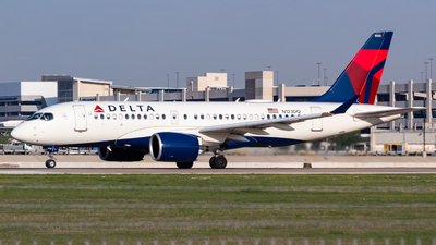 A picture of N123DQ - Airbus A220100 - Delta Air Lines - © Saul Hannibal