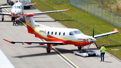 A picture of HBFRT - Pilatus PC12 - Pilatus Flugzeugwerke - © Jeremy Denton