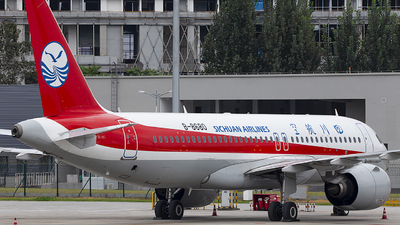 A picture of B8680 - Airbus A320271N - Sichuan Airlines - © XieTM