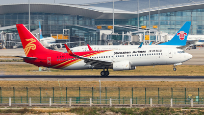 A picture of B5411 - Boeing 73787L - Shenzhen Airlines - © BillyLIAO