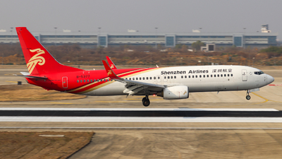 A picture of B5377 - Boeing 7378AL - Shenzhen Airlines - © Charlie-Aviationphotography