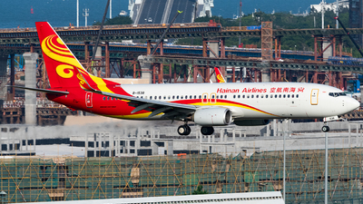 A picture of B1538 - Boeing 73784P - Hainan Airlines - © AndySpotter