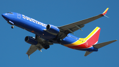 A picture of N8324A - Boeing 7378H4 - Southwest Airlines - © ajwebb