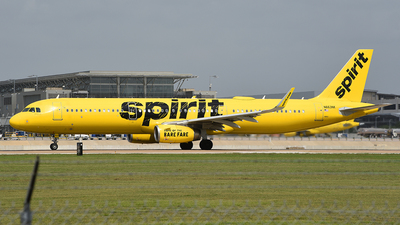 A picture of N663NK - Airbus A321231 - Spirit Airlines - © Rocky Wang