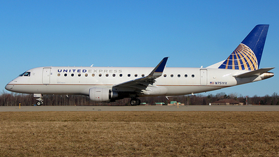 A picture of N751YX - Embraer E175LR - United Airlines - © Chrisjake