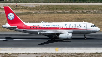A picture of B6043 - Airbus A319133 - Sichuan Airlines - © zhangmx969