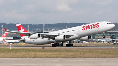 HB-JMJ - Airbus A340-313X - Swiss