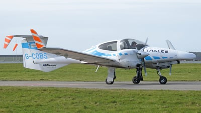 A picture of GCOBS - Diamond DA42MNG Twin Star - Cobham Aviation Services - © MIKE GRIFFITHS