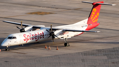 A picture of VTSUB - De Havilland Canada Dash 8400 - SpiceJet - © Sandeep Pilania
