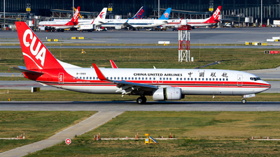 A picture of B1989 - Boeing 73789P - China United Airlines - © yiran