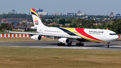 A picture of OOABD - Airbus A340313 - Air Belgium - © Matteo Lamberts