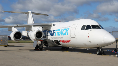 A picture of VHNJF - BAe 146300(QT) - National Jet Express - © Tim Bowrey