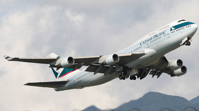 B-HKT - Boeing 747-412 - Cathay Pacific Airways