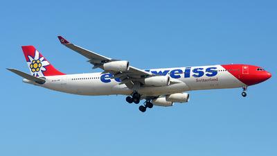 A picture of HBJME - Airbus A340313 - Edelweiss Air - © Alexander Portas
