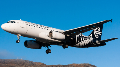 A picture of ZKOJS - Airbus A320232 - Air New Zealand - © James Kirkland