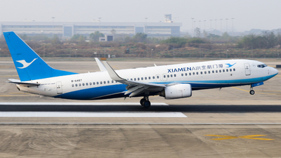 A picture of B6487 - Boeing 73785C - Xiamen Air - © Jerry_Hammer