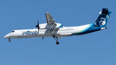 A picture of N434MK - De Havilland Canada Dash 8400 - Alaska Airlines - © Yixin Chen