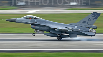 6664 - General Dynamics F-16AM Fighting Falcon - Taiwan - Air Force