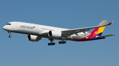 F-WZFJ - Airbus A350-941 - Asiana Airlines