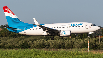 A picture of LXLBT - Boeing 7377K2 - Luxair - © Matteo Buono