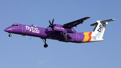 A picture of GJEDW - De Havilland Canada Dash 8400 - Flybe - © Peter Cook