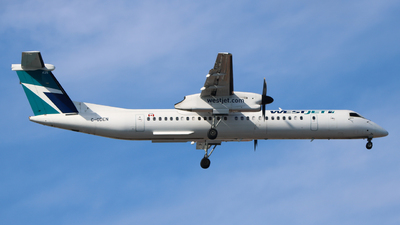 A picture of CGDEN - De Havilland Canada Dash 8400 - WestJet - © bellcc