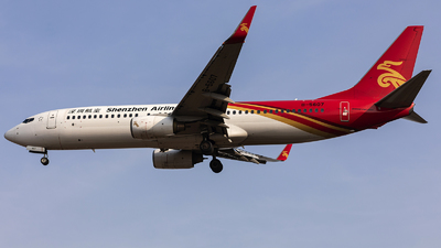 A picture of B5607 - Boeing 73787L - Shenzhen Airlines - © Amyritter-Lv